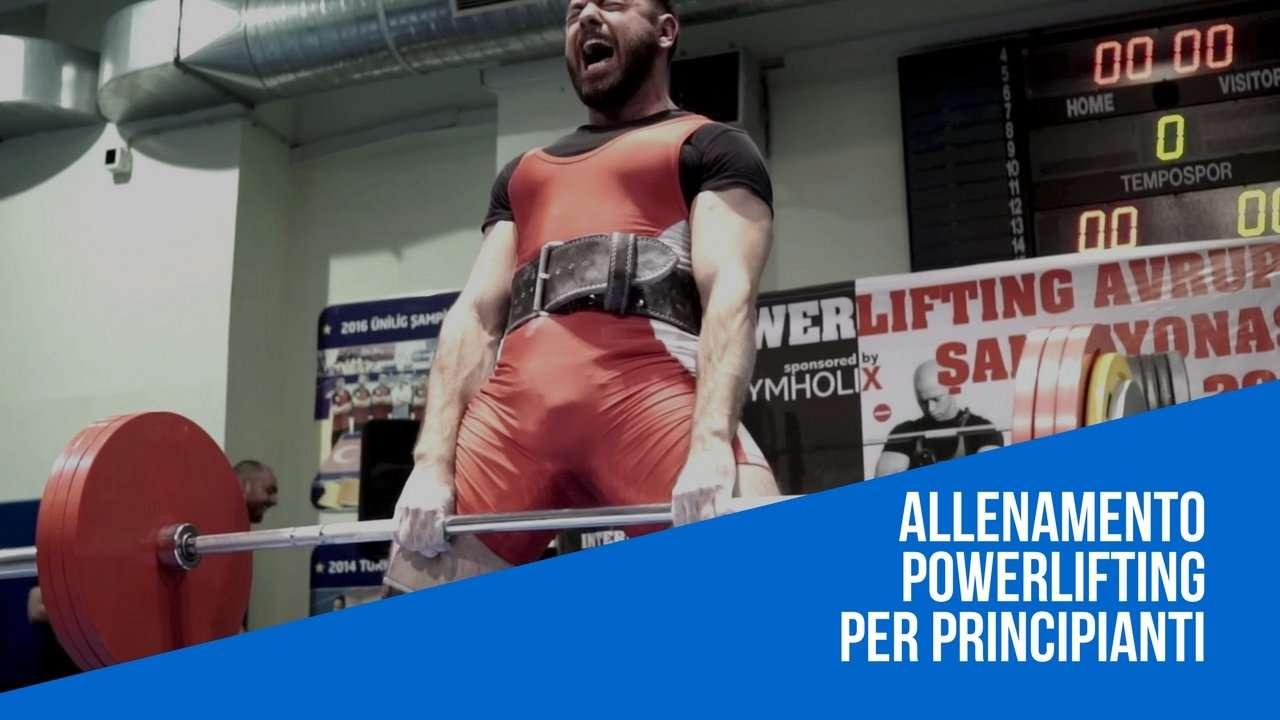 Allenamento Powerlifting Principianti