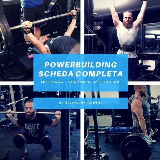 Scheda Powerbuilding Programma